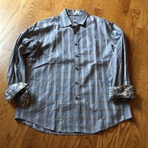 Tasso Elba button up shirt size m